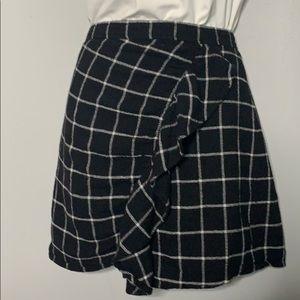 Madewell Black White Ruffle Front Skirt 4